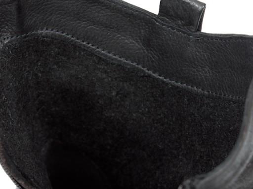 GRODECKI 1000 botki zimowe POLSKIE czarne 36 SKÓRA