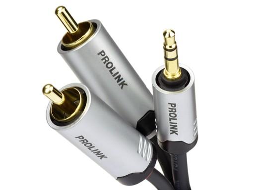Prolink FTC 103 - kabel mini jack/2xRCA Cinch 5m