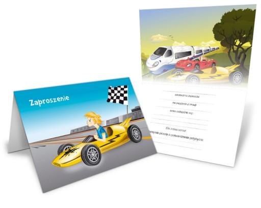 Zaproszenie Urodziny Formuła Wyścigówka Koperta 7536589609 Allegropl