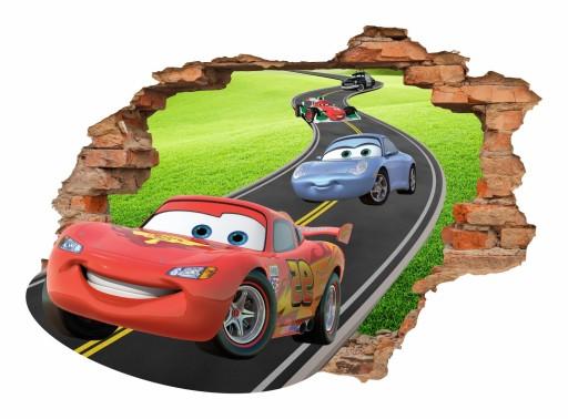 Naklejki Na ścianę Dla Dzieci Auta 3d Cars 70x50cm 6557171456