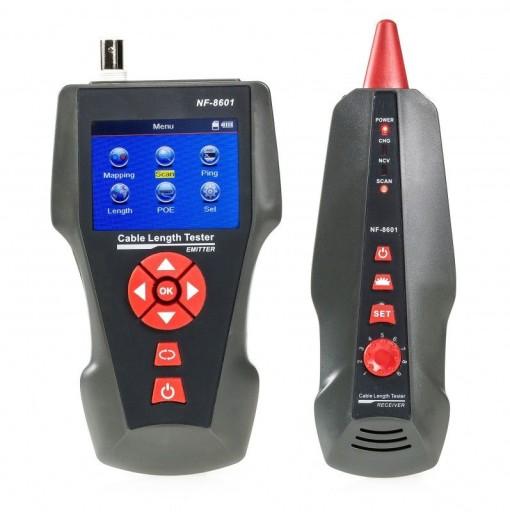 Tester okablowania LCD BNC z szukacz par test ping