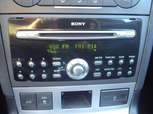 Top ORYGINALNE RADIO SONY CD MP3 FORD MONDEO MK3 (5686323200  QN-76