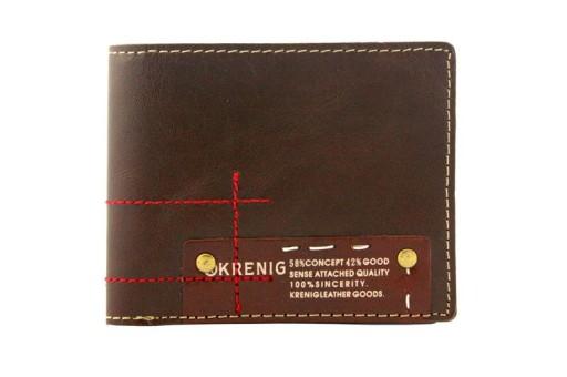 7a03b1fa45799 Młodzieżowy portfel banknotówka Krenig skóra brąz 7387887751 - Allegro.pl -  Więcej niż aukcje.