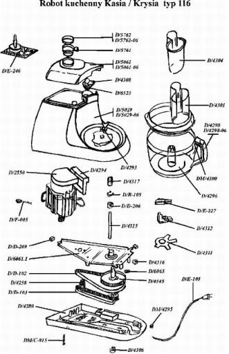 MPM Product czesci zamien Kasia pojemnik malaksera
