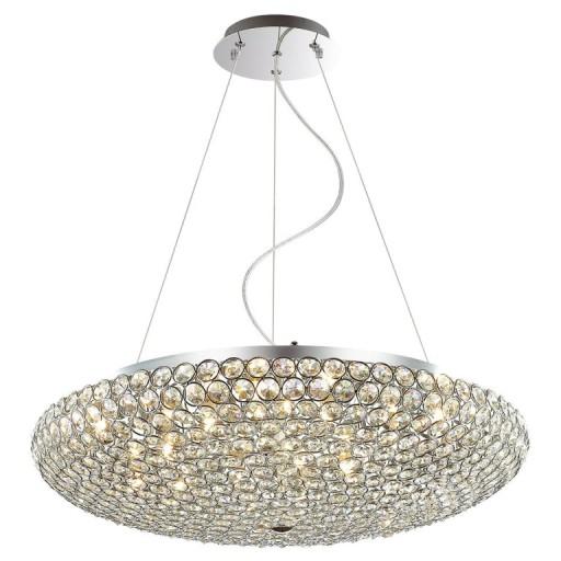 Nowoczesna Lampa Kryształowa Salonu Pokoju Chrom