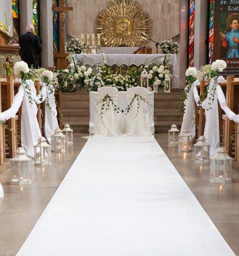 Chodnik Biały Do Kościoła Na ślub 25m Za Dywan 6575231994 Allegropl