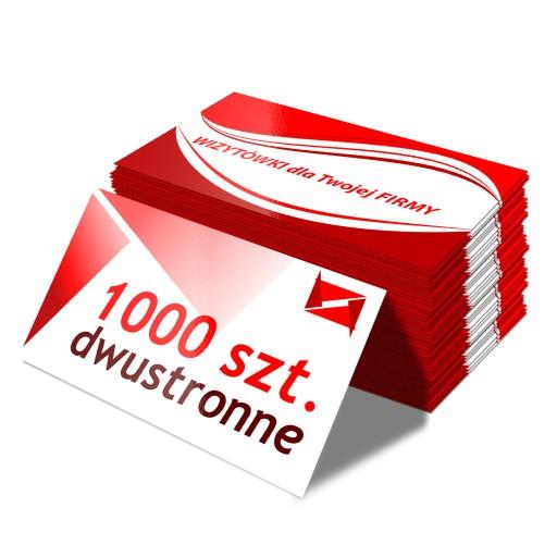 Wizytówki 1000 sztuk DWUSTRONNE grube 350g JAKOŚĆ!