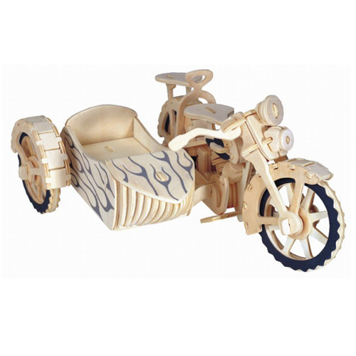 Puzzle Drewniane 3d Motocykl Motor Z Koszem 6068803923 Allegro Pl