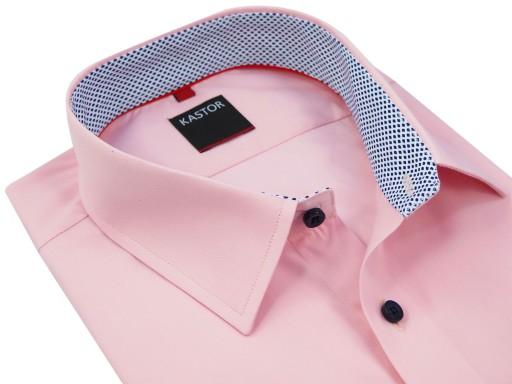 Różowa koszula męska KASTOR K41 188 194 41 SLIM 8291231969  tFQUC