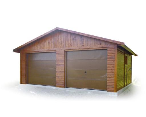 Garaż Drewniany Dwustanowiskowy Samochodowy 6669144581