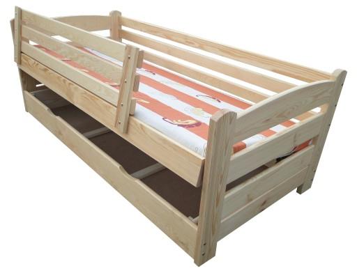 Smyk 90x200 łóżko Z Barierkami łóżko Z Pojemnikiem