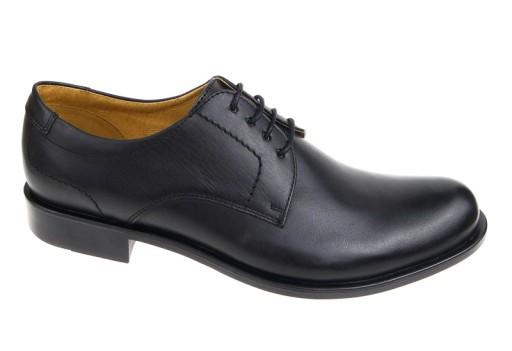 3eb218f7 WOJAS buty wizytowe 9023-51 czarne skóra 43 5641538976 - Allegro.pl
