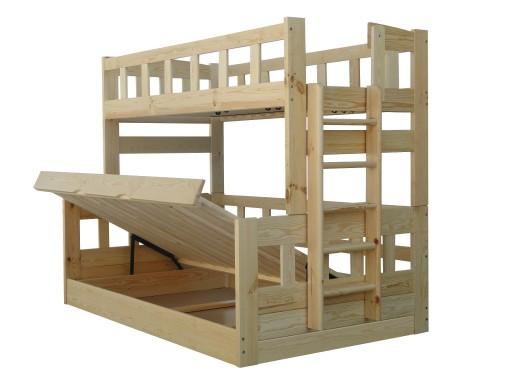 Midas 120x200 łóżko Piętrowe Trzyosobowe Mega150kg 7771437742