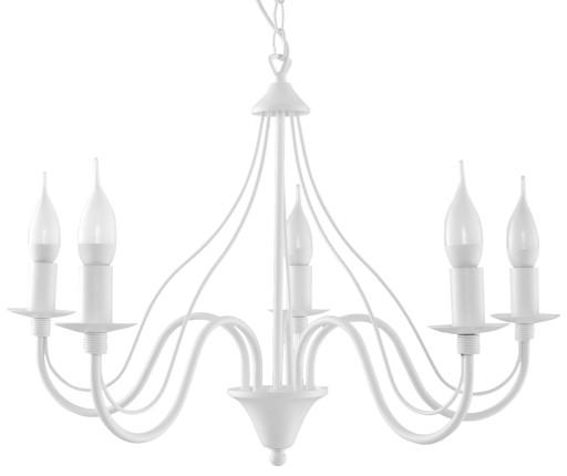 Klasyczna lampa wisząca świeca MINERWA 5 biała