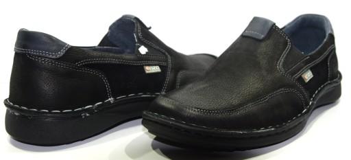 Obuwie męskie buty mokasyny skóra czarny 676 R.40 8921024153