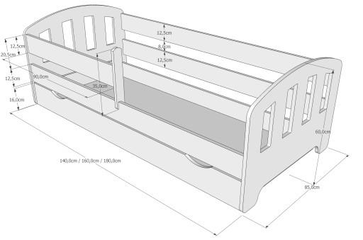 Łóżko FIFI 180x80 +szuflada+materac WYSYŁKA GRATIS