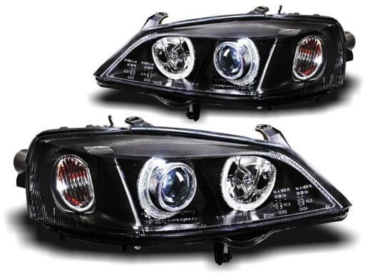 Lampy Opel Astra 2 Ii G 98 04r Ringi Depo Black Knurow Allegro Pl