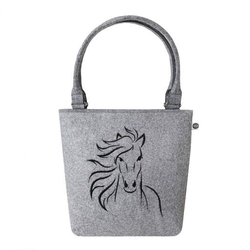 097f88cb8d678 HOCA Torba filcowa Shopperbag M - Koń 7668691076 - Allegro.pl