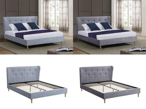 łóżko Tapicerowane Trento Tkanina Stelaż 140x200 7013272440