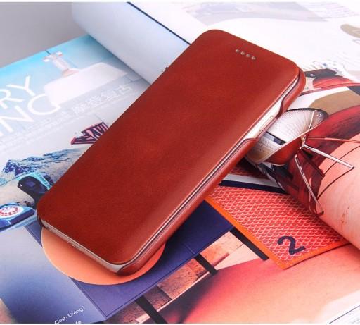 Futerał iPhone 7 plus brązowy PU leather EKO