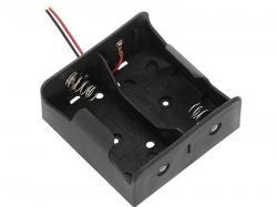 Koszyk na 2 baterie typu R20 D z kabelkami(0068