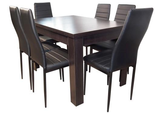 Czarny Zestaw Kuchenny Stół I Krzesła Do Jadalni