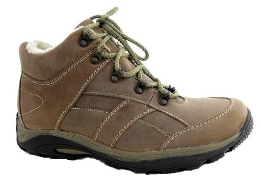 SKÓRZANE obuwie OCIEPLANE polskie TRZEWIKI 38 G