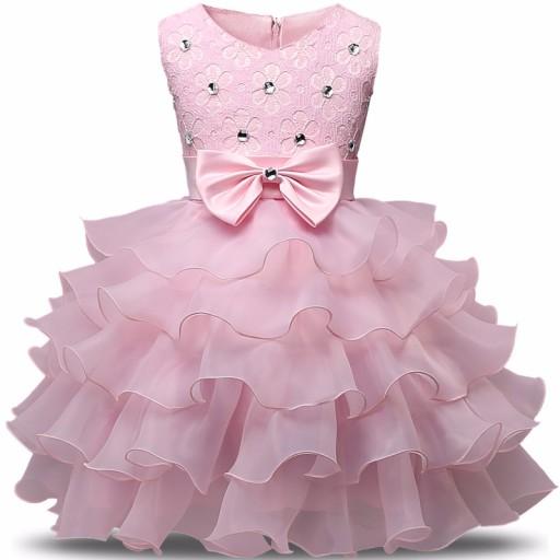 CUDNA Wizytowa Sukienka 86 92 Wesele Urodziny