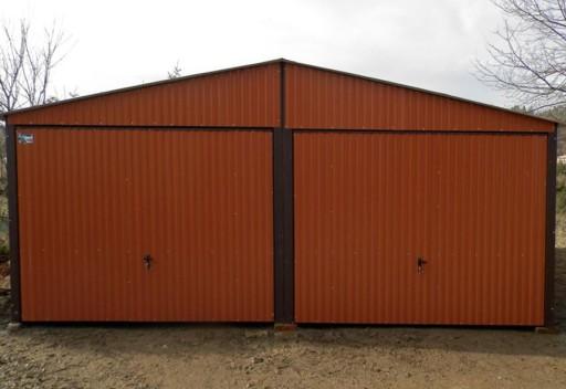 Poważne Garaże Blaszane RAL 6x6 Blaszaki Podwójne Akrylowe 6125166996 KF05