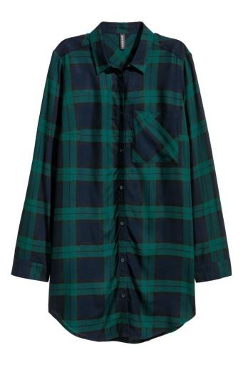 520f12178747f7 H&M Długa koszula z wiskozy rozm. 36 (S) 7513348556 - Allegro.pl - Więcej  niż aukcje.