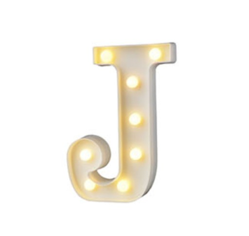 Litery świecące Kulki Led Lampki Literka Lampka J 7147748379
