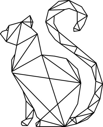 Naklejka Na ścianę Kot Geometryczny 70 Cm 7110682072 Allegropl