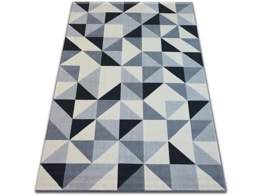 Dywany łuszczów Scandi 160x230 Trójkąt Szary B244