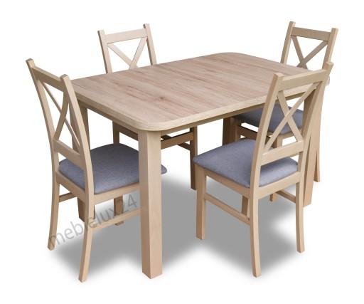Stół 4 Krzesła Dąb San Remo Najtaniej Zestawy