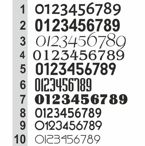 Numer na dom Tabliczka adresowa 40x30 ALUMINIUM