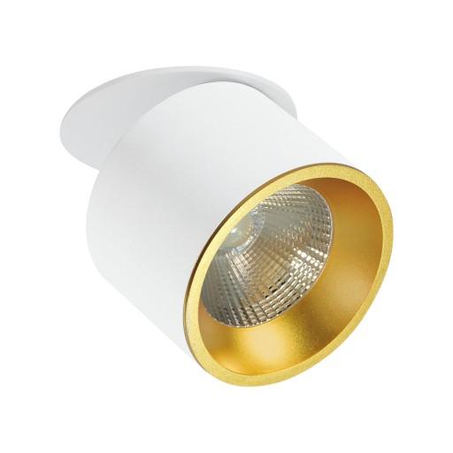 Lampa podtynkowa LED 360° 1500lm 20W biało złota