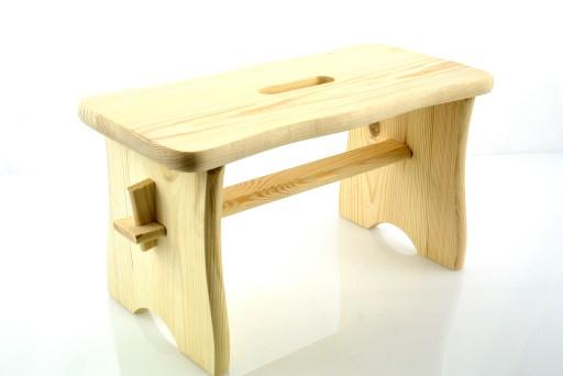 Stolek taboret drewniany RYCZKA krzesełko,zydel