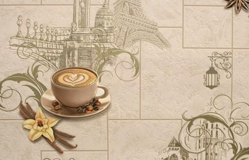 Tapeta Do Kuchni Wieża Kawa Zmywalna 98002