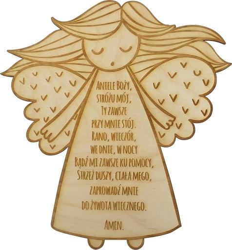 Obrazek Modlitwa Aniele Boży Na Chrzest Aniołek