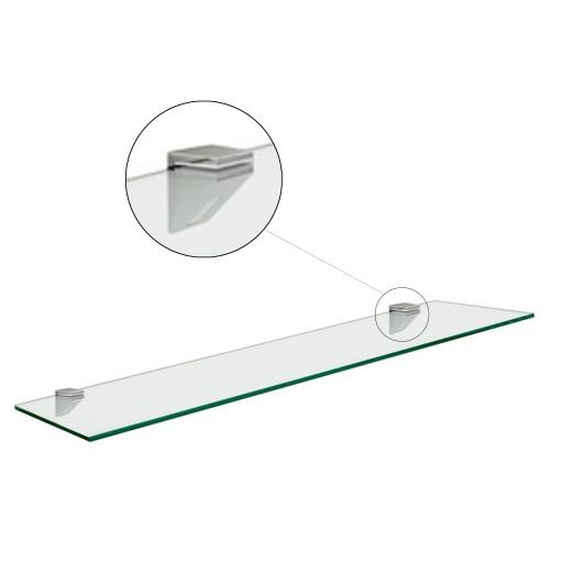 Szklana Półka łazienkowa Pod Lustro 40x14cm