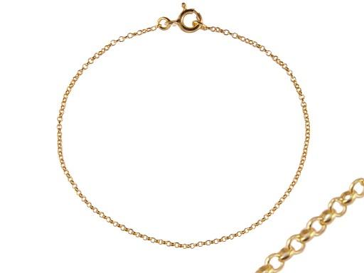 VERSIL łańcuszek złocony 90 cm SREBRO 0,925