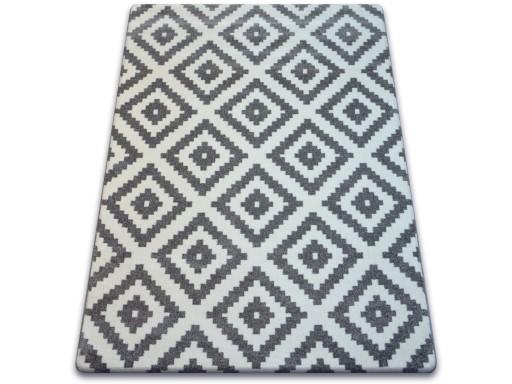 Dywany łuszczów Sketch 120x170 Romby Szary Gr2201