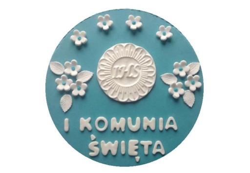 id_1956 KOMUNIA ŚWIĘTA TORT IHS HOSTIA KIELICH