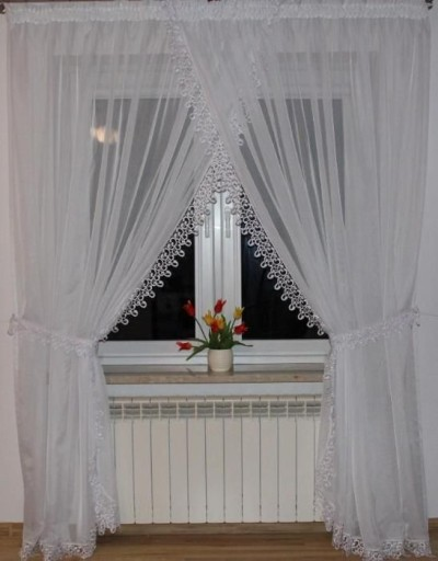 Firany Firana Gotowa Woal Z Gipiura Balkon Okno 7134057046 Allegro Pl
