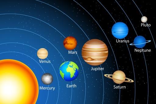 Fototapety dla dzieci, kosmos, planety, układ 7064635168 - Allegro.pl