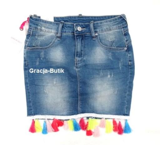 Włoska jeansowa frędzle jeans typ by o la dla M