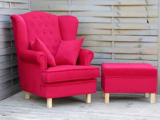 fotel uszak czerwony zestaw dla Mikołaja, od ręki