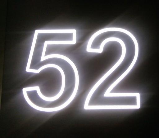 Groovy Podświetlany LED numer domu OSZCZĘDNOŚĆ ENERGII 6989856691 OR98