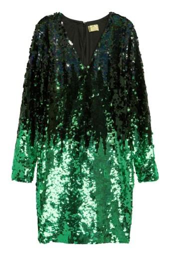 76f5170b49 H M sukienka cekiny ombre Studio Slub Wesele 6929964607 - Allegro.pl