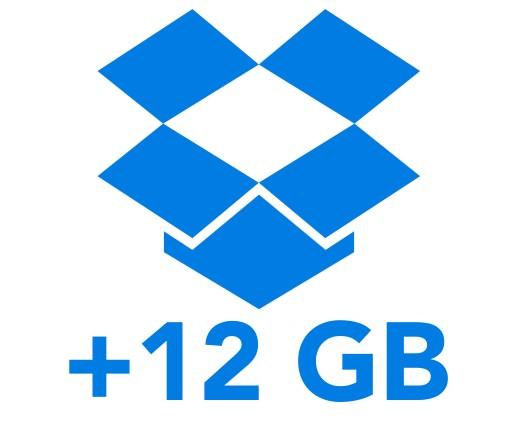 DROPBOX DOŁADOWANIE +12GB DOŻYWOTNIE
